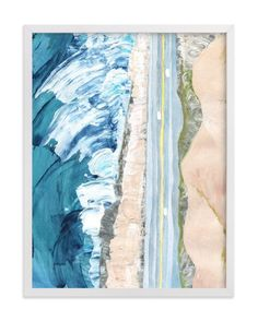 """Pacific Coast Highway"" - Art Print by Denise Wong in beautiful frame options and a variety of sizes."