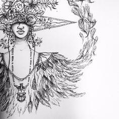 """Istar"" illustration, ink on paper"