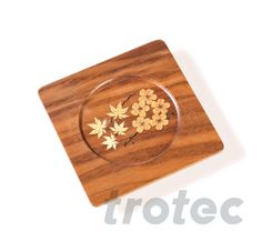 With the Trotec laser systems, you can apply valuable, individual ornaments onto a single piece or an entire series. Trotec Laser, Textiles, Wooden Coasters, Single Piece, Diys, Arts And Crafts, How To Apply, Ornaments, Coasters