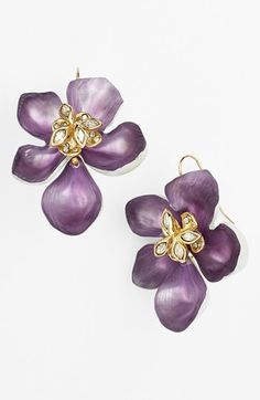Alexis Bittar 'Lucite® - Jardin Mystère' Flower Drop Earrings available at #Nordstrom