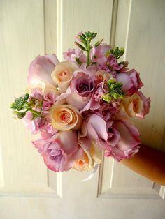 CBR258 Weddings Riviera Maya lilac light pink bridesmaid bouquet / Ramo para madrina rosa y lila