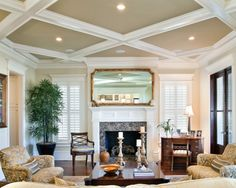 Crown Molding Ideas Design, molding around fireplace and windows