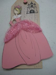 The new Prima princess doll stamp.  I made her into Sleeping Beauty!