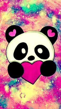 Panda Wallpaper Iphone, Unicornios Wallpaper, Cute Galaxy Wallpaper, Cute Panda Wallpaper, Cute Wallpaper For Phone, Glitter Wallpaper, Cute Wallpaper Backgrounds, Disney Wallpaper, Wallpapers Kawaii