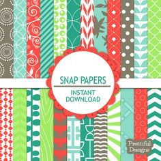 50 Off Sale Digital Paper Pack   Personal and by PrettifulDesigns, $1.88
