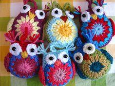 Zelf maken met HAAKGAREN - Uiltjes / Little owls