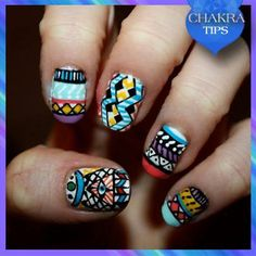 Wanna play with nail art? Try these Tribal Nails...