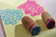 Stamp carving small flower by AutumnHathaway, Diy Stamps, Homemade Stamps, Stamp Printing, Printing On Fabric, Eraser Stamp, Stamp Carving, Cork Crafts, Linocut Prints, Small Flowers