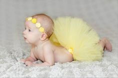 Baby's First Tutu Set in Yellow...Yellow by FloppyBunnyBoutique