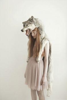 Girl with Wolf II by Jessica Silversaga