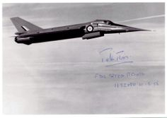 Fairey Delta Photo signed by test pilot Peter Twiss Military Jets, Military Aircraft, Military Weapons, Airplane History, Aviation Image, Experimental Aircraft, Ww2 Aircraft, Aircraft Pictures, Jet Plane