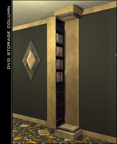 DVD storage theater column!   This may be an awesome idea!