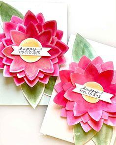 Flower Die Cut Card Tutorial: Easy to make in bulk - Smitha Katti Foam Crafts, Fabric Crafts, Toilet Paper Roll Crafts, Paper Crafts, Yarn Twist, Pipe Cleaner Crafts, Craft Free, Die Cut Cards, Recycled Crafts