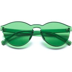 Dollger One Piece Transparent Tinted Rimless Cat Eye Sunglasses with... ($14) ❤ liked on Polyvore featuring accessories, eyewear, sunglasses, rimless cat eye sunglasses, transparent sunglasses, tinted glasses, green tinted glasses and cat-eye glasses