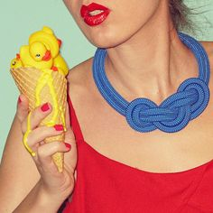 Not only cool icecream... but this rope necklace is just awesome!
