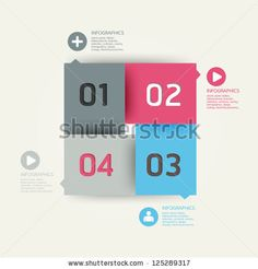 Modern Design Template / Can Be Used For Infographics / Numbered Banners / Horizontal Cutout Lines / Graphic Or Website Layout Vector - 125290739 : Shutterstock