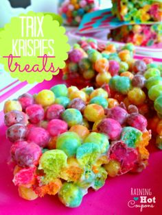 Trix Krispie Treats Recipe - These are DELICIOUS and SO Cute!!!!