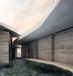 Render of Peter Zumthor's The Secular Retreat, part of Living Architecture. Image courtesy Peter Zumthor