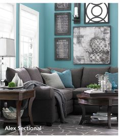 From Basset's email... love this color combo!!  Possible wall color for bedroom