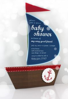 DIY Nautical Baby Shower Invitation
