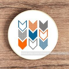 Modern cross stitch - PDF Counted cross stitch pattern - Geometric - Chevron