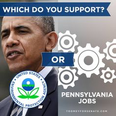 Pat Toomey social media graphic, asking Facebook fans if they support Obama and EPA regulations or jobs for Pennsyvania. With experienced digital media strategists, web developers and graphic designers, the Harris Media team will help your campaign succeed. Learn more: www.harrismediallc.com