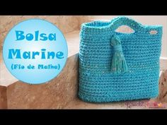 YouTube Crochet Bag Tutorials, Crochet Videos, Crochet Patterns, Diy Tote Bag, Macrame Bag, Crochet For Boys, Crochet Handbags, T Shirt Yarn, Purses And Bags