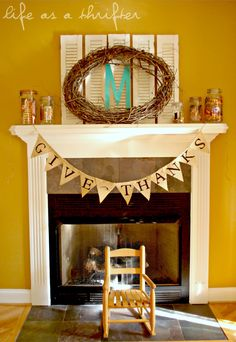oh my love this >>> time to change up our fireplace mantel!! LOVE the jars