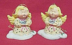 Angel Bluebird and Holly Christmas Tree Ornament. Made of Resin.
