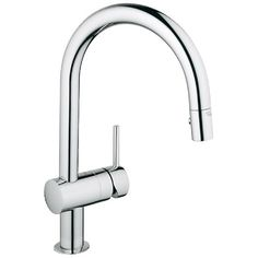 Grohe Minta Starlight Chrome (Grey) Pull-Out Spray Kitchen Faucet (Starlight Chrome)