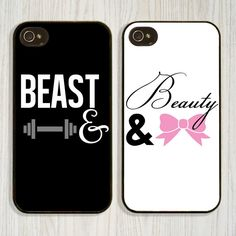 Matching Guy Girl Black and White iPhone 5 Case by CellShells