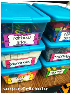 "I love Wednesdays because it means it is time for ""What I'm Pinning Wednesdays!"" with Kinder Kraziness ! Hop on the Linky Train and head ov. Classroom Organisation, Teacher Organization, Kindergarten Math, School Classroom, School Fun, Teaching Math, Classroom Labels, Classroom Management, Organization Ideas"