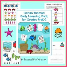 Ocean Learning Pack for Grades K-2 | This Sweet Life