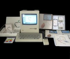 Apple Macintosh Model M0001 128k Computer (1984).