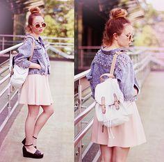 Choies Jacket, Iclothing Dress, Parfois Backpack, Papilion Shoes