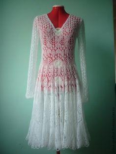 Платье `Снежность`. Нежное, воздушное платье из мохера - сделает Вас принцессой.  Возможно выполнение из мохера на шелке любого цвета.