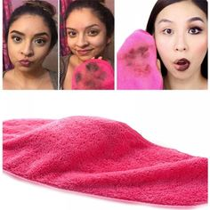 Can be also a great facial cleansing towel. Just add water to this magic makeup remover towel, wipe away makeup quickly. 1 x Makeup Remover Towel. Soft Makeup, Clean Makeup, Face Makeup, Makeup Remover Towel, Remove Makeup From Clothes, Makeup Eraser, Flaky Skin, Make Up Remover, Pores