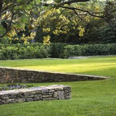 Image result for LAWN TERRACE STONE WALL