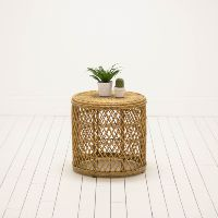 Rattan Stool or Table | Bohemian, Free People Inspired Furniture | Birch & Brass Vintage Rentals | Weddings and Corporate Events | Austin, Texas