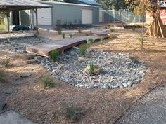 let the children play: dry creek beds in a preschool playscape Outdoor Learning, Outdoor Play, Outdoor Spaces, Outdoor Decor, Outdoor Ideas, Preschool Playground, Playground Ideas, Dry Creek Bed, Dry River