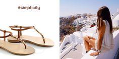 Tan Sandals with golden metallic details. Tan Sandals, Spring Summer 2015, Shoe Collection, Summer Shoes, Cinderella, Greece, Fashion Shoes, Metallic, Footwear
