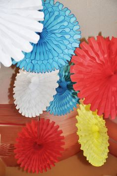 Paper decorations (ceiling or backdrop)