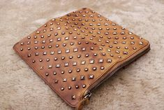 Rivets Leather Clutch, Purse Handbag, Personalized Womens Clutch, Handbags, Christmas Gift, Clutch Wallet Woman, Gift for her, Iphone wallet