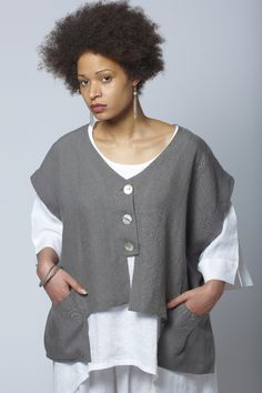 Habibe London | Waistcoat - in Irish Linen. Just bought her book and this pattern is in it!