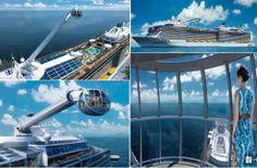 Ada Yang Berbeda di Kapal #RoyalCaribbean - GriyaWisata.com - Kapal mewah, Royal Caribbean telah meluncurkan sebuah kapsul kaca untuk mengangkut tamu 300 meter di atas permukaan laut.