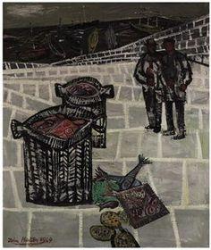 John Minton - Two Fishermen 1949 oil on canvas Contemporary Art London, John Minton, Leeds Art Gallery, Royal College Of Art, Art Uk, Romanticism, Art Auction, Decoration, Art History