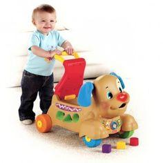 Il CAGNOLINO PRIMI PASSI CAVALCABILE è 3 prodotti in uno: primi passi, cavalcabile e centro attività. Il bambino verrà coinvolto dal gioco interattivo e dal movimento, che ne incoraggeranno il divertimento e lo sviluppo fisico.