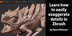 Learn how to easily exaggerate details in Zbrush by Ryan Kittleson See how to amp up detail in zbrus Zbrush Tutorial, 3d Tutorial, Sketchbook Pro, After Effect Tutorial, Looks Cool, Art Tutorials, Sculpting, Modeling, Lion Sculpture