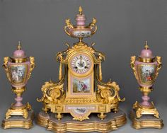 French antique clock set. ca.1880