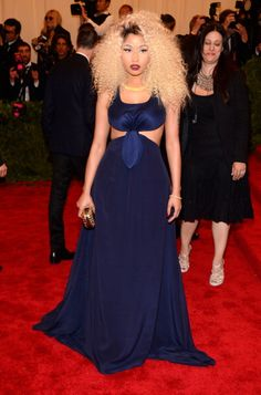 See What Everyone Wore to the 2013 Met Gala:  Nicki Minaj  in Tommy Hilfiger. would love to try and recreate this dress in white